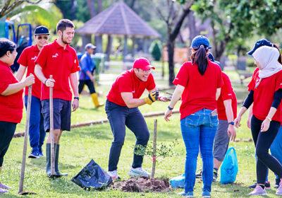 Company plants 36 saplings to meet pledge